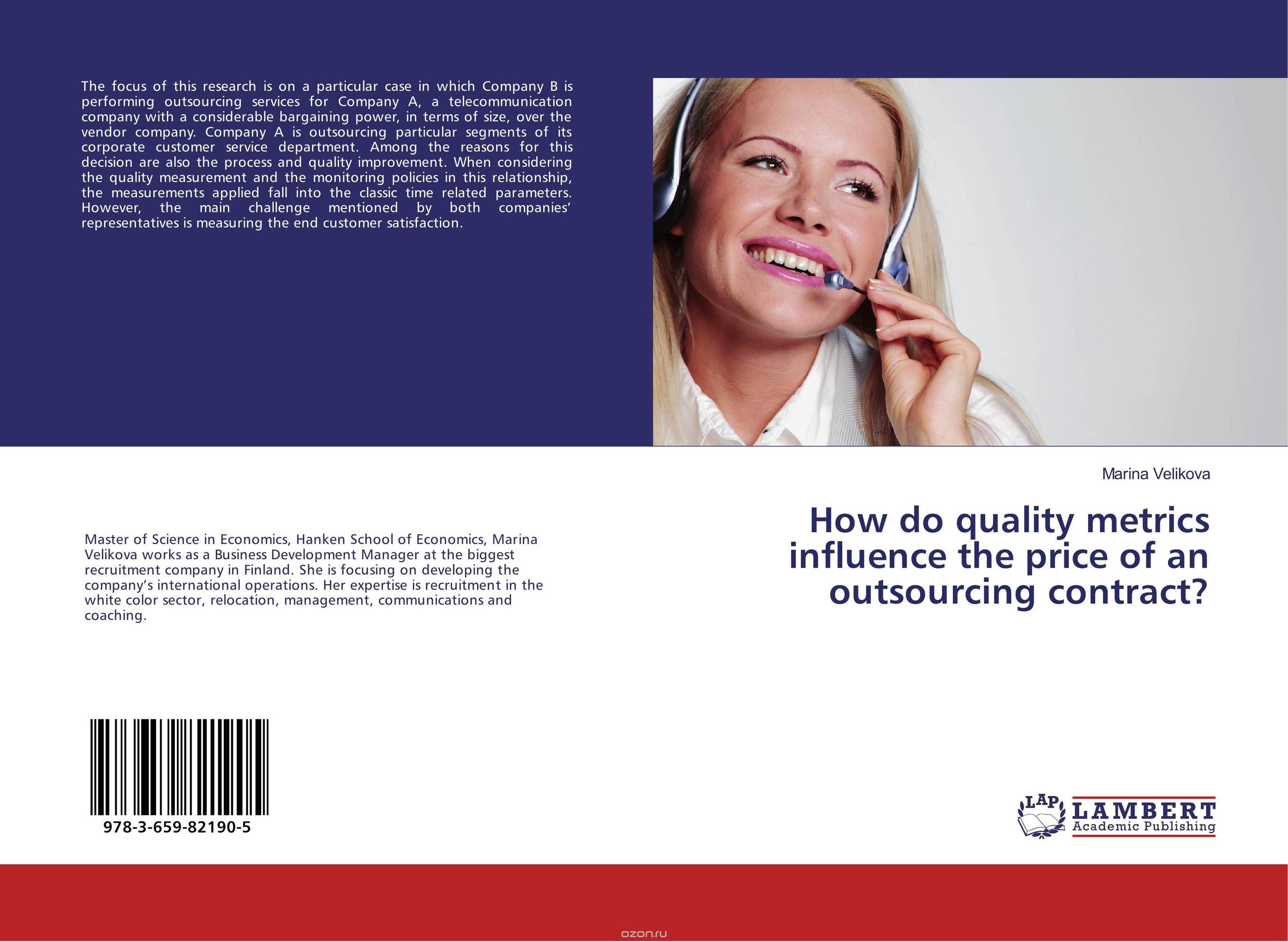 "Скачать книгу ""How do quality metrics influence the price of an outsourcing contract?"""